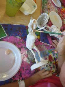 Peindre sa sculpture en plâtre