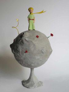Maquette de petit Prince en papier mâché