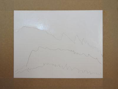 Mouiller le papier avant de peindre