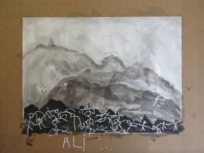 Le paysage de montagnes d'Ali