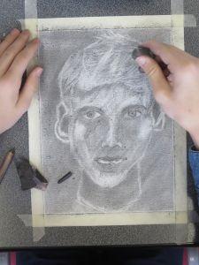 Le portrait de Pierre-Lou est presque achevé