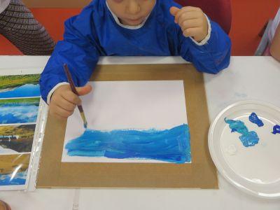 Gustave peint son ciel