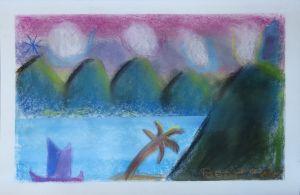 Inventer un paysage avec des pastels secs