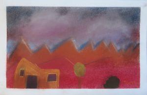 Peinture au pastels secs