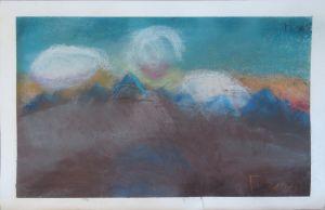 Soleil levant derrière les collines