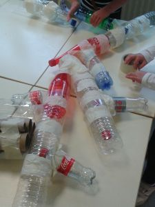 Assemblage des bouteilles pour réaliser les branches