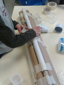 Assemblege des tubes en carton