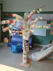 Sculpture en matériaux de récupération