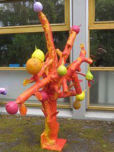 Fruits jaunes et rouges