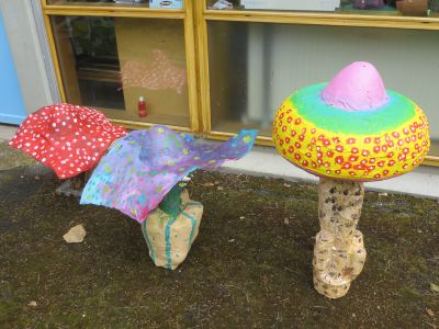 Trois champignons magiques