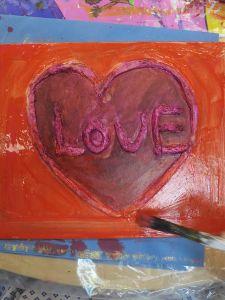 Encres acryliques sur plâtre et carton