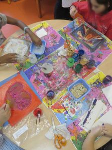 Atelier artistique avec les enfants hospitalisés