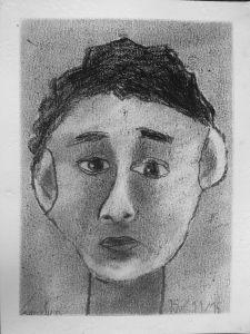 Dessiner son portrait avec un crayon gras