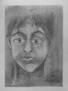 Autoportrait au crayon gris