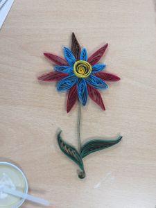 La fleur réalisée par Justine, 13 ans