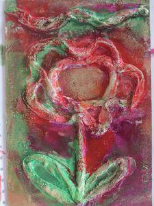 Fleur dessinée avec de la bande plâtrées