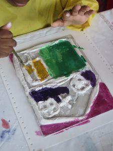 Peindre son tableau avec des encres colorées