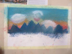 Ligne d'horizon bleue