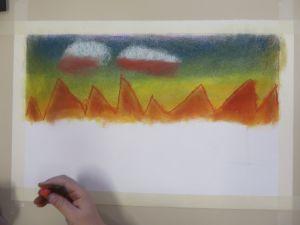 Ligne d'horizon orange