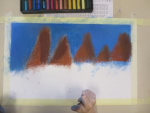 Tracer les montagnes à l'horizon