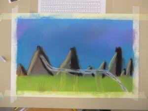 Dessiner un paysage imaginaire