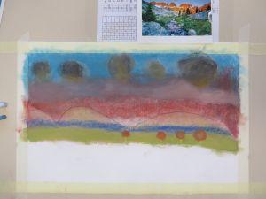 réaliser un paysage au pastel
