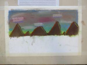 Dessiner avec des pastels à l'école
