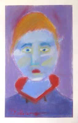 Autoportrait mauve