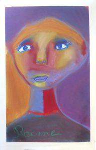 Peinture d'enfant avec des craies sèches