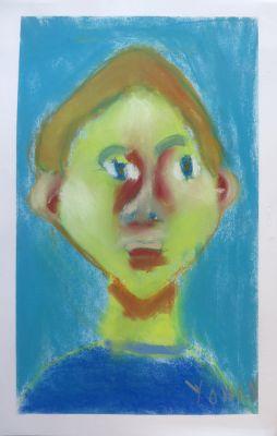auto portrait de jeune garçon