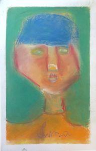 Autoportrait d'enfant en couleur
