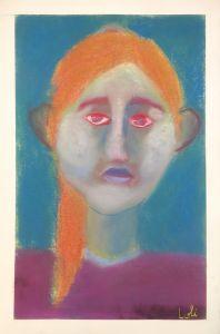 Portrait au visage blanc