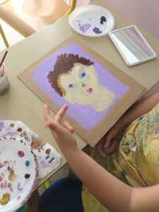 Autoportrait peint