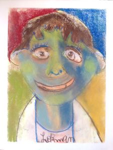 Autoportrait de jeune garçon