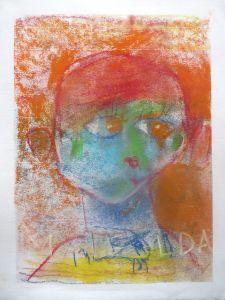 Autoportrait d'enfant de 5 ans