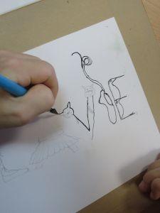 Essiner avec une plume