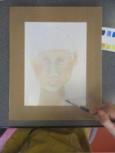 Peindre la couleur de la peau