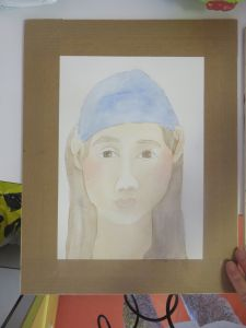 Peindre le bandeau en bleu