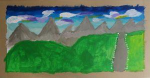 Peindre un paysage à l'école