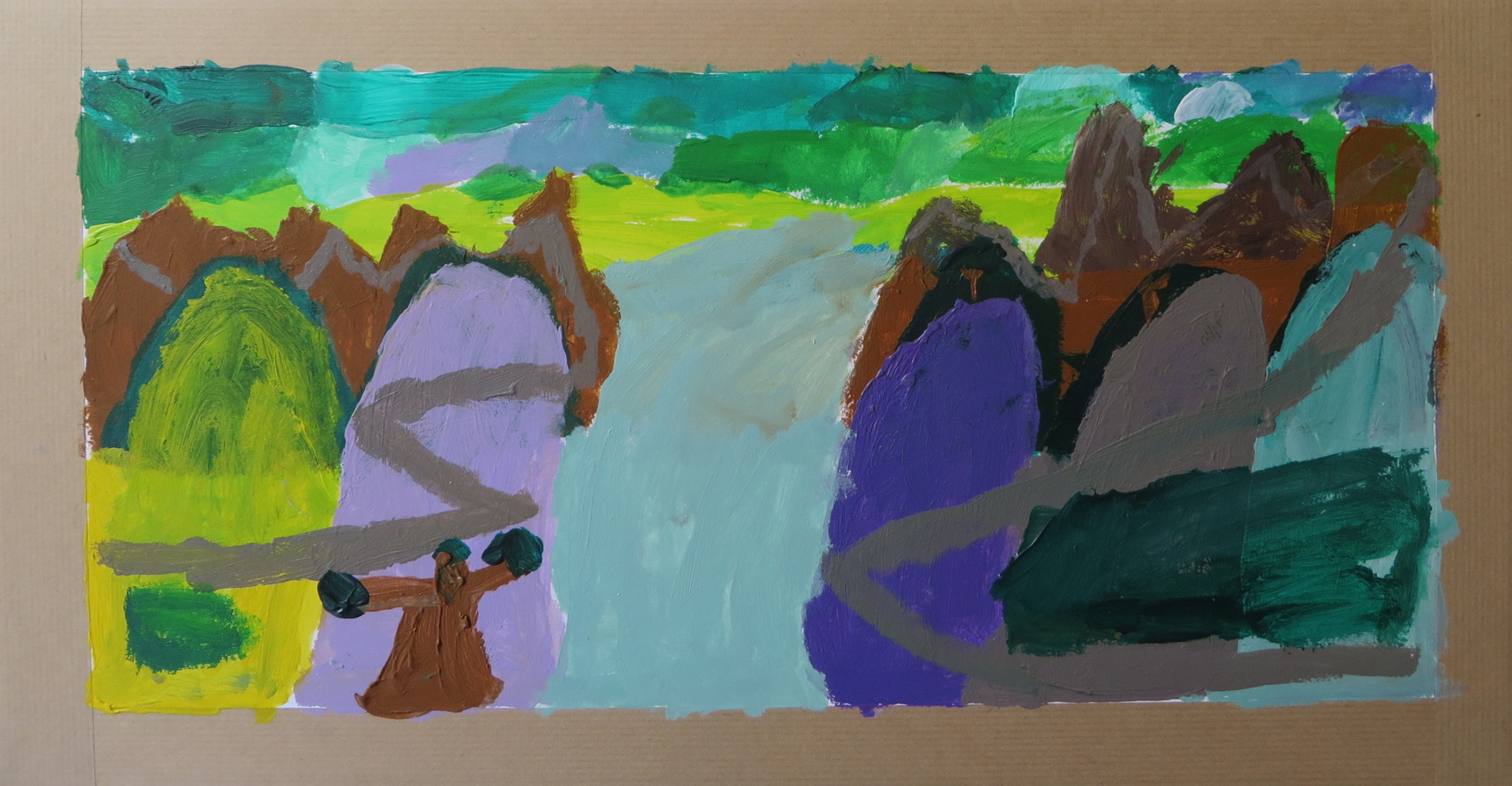 Apprendre à Peindre Un Paysage Avec De La Peinture Acrylique