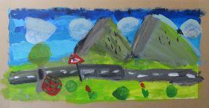 Cours de peinture avec les enfants