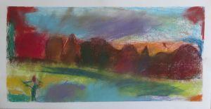 Peindre un paysage avec des craies pastel