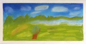Peindre un paysage verdoyant