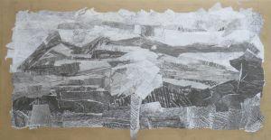 Créer un paysage en papiers gris et blanc