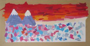 Puzzle de papiers colorés