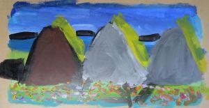 Trois montagnes fleuries