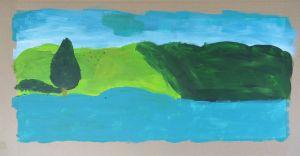 Sapin au pied du lac bleu