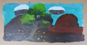 Cours de peinture à l'école