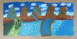 Inventer un paysage avec de la peinture