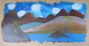 Joli paysage créé par un enfant